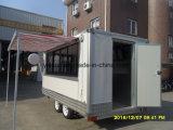 Caravan mobile degli alimenti a rapida preparazione della cucina