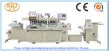 Tres estaciones de etiquetas de alta velocidad Estampación en caliente Máquina de troquelado y