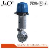 Válvula de borboleta sanitária do atuador e do Positioner