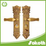 Ручка двери самых лучших продуктов низкой цены большая с рукояткой /Zinc замка на плите сделанной в Китае