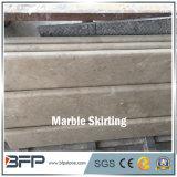 Telha M265 de contorno de mármore bege clássica Polished com parcialmente circularmente borda