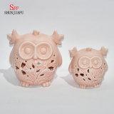 De lichtrose Uilen vormen Ceramische Kaars Holders/F
