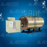 0.7MW Boiler van het Hete Water van de Korrel van de Luchtdruk van Condening van de biomassa de Houten