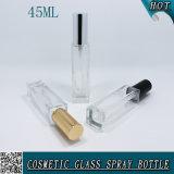bottiglia di profumo di vetro quadrata 45ml per l'estetica