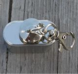 mini botella de petróleo Hip del matraz del acero inoxidable 1oz con el anillo de dedo
