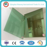 vidrio reflexivo verde oscuro de 5.5m m para el edificio alto