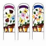 Garten-Dekoration-Tuch-Blume verzierte ringsum Metallzaun-Fertigkeit