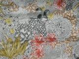Напечатанное Silk Habotai в сложной картине цветка