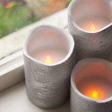 Zilveren LEIDENE Zonder vlammen Batterij In werking gestelde Kaarsen met Tijdopnemer en Ver
