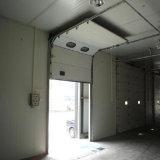 Porte automatique de remontée pyramidale de porte sectionnelle industrielle de tissu de PVC