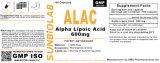 Alpha Lipoic Acid Capsules 600mg GMP Factory Acido tisoctico