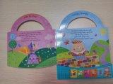 Impresión inglesa del libro de los sonidos de los niños de encargo con el libro del molde del sonido de la voz de la perforación