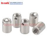 Garniture intérieure filetée d'acier inoxydable 307h 308h avec des alésages