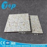Panneau simple en aluminium de marbre pour le revêtement de mur extérieur