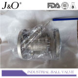 Válvula de bola de 3 vías con soporte de montaje 1000wog