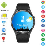 2016 montre intelligente Kw88 de Bluetooth 1GB du RAM 3G de carte SIM androïde du WiFi GPS