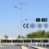 (ND-R67) 50W LED Solarstraßenlaternemit Batterie des Lithium-12V80ah