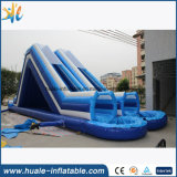 diapositiva inflable del carril doble 0.55mmpvc, diapositiva inflable de los cabritos para la venta