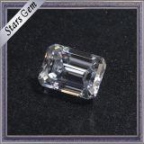 De hete Diamant van Moissanite van de Besnoeiing van 1 Karaat van de Verkoop Duidelijke Witte Smaragdgroene