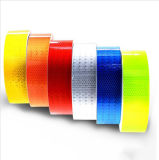 5cm Largeur Lattice Ruban adhésif réfléchissant Autocollant Automobile Vehicletruck Motocyclette Cyclisme Avertissement Mark Strip Autocollant DIY