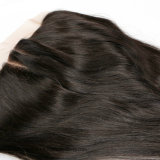 Frontal tres/libres/parte media del cordón del pelo 13X4 de la dicha del cordón suizo barato de la Virgen del pelo humano de los pedazos indios rectos frontales del frontal