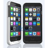 iPhone 7のためのカバー力バンクが付いている超細い外部4000mAhバックアップ電話箱電池