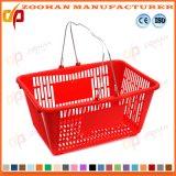 다채로운 새로운 플라스틱 슈퍼마켓 쇼핑 손잡이 바구니 (Zhb57)