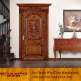 Einzelne Blatt-Antike geschnitzte hölzerne Haustüren für Verkauf (XS2-007)