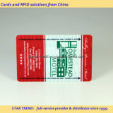 Cartões no cartão chave do PVC do cartão do hotel
