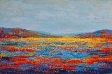 De abstracte Reproductie van het Olieverfschilderij met Acryl
