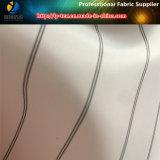 Fbric allineante blu, rivestimento del manicotto del poliestere in filato tinto per il vestito (S63.67)