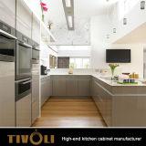 最もよいデザインTivo-0003hの新しく鋭い現代的な台所食料貯蔵室のキャビネット