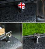 De gloednieuwe ABS van de Stijl van Union Jack Plastic UV Beschermde Knoop van het Slot van de Deur van het Chroom voor Mini Cooper F55 F56 F57 R55 R56 R60 (2 PCS/Set)