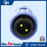 IP67はM8 2pin男性LEDのケーブルコネクタを防水する