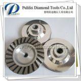 터보 다이아몬드 세그먼트 다이아몬드 알루미늄 가는 컵 바퀴