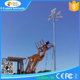 certificación de la UE de 15W 20W, IP65 protección, luz de calle solar de la inteligencia artificial