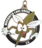 Medaglia del premio con stato marchio 5k per l'inseguimento del lago mosquito