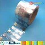 상표 보호 9662 탬퍼 기록 UHF RFID 상감세공 꼬리표
