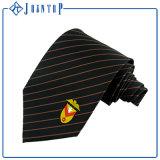 Cravate belle de soie d'OEM de noir de trappe de couleur solide