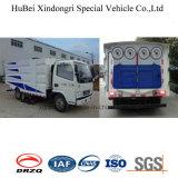 euro compact 4 de camion nettoyé à l'aspirateur par Dongfeng de balayeuse de route 5cbm