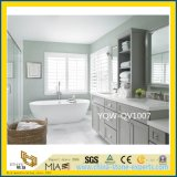 White Artificial Quartz Bathroom Vanity Tops for Home, Hotel