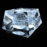 Cubo cristalino del globo 3D (ND10029)