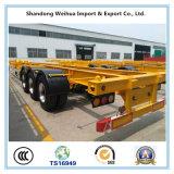 Hoogste Kwaliteit 40FT of 20FT de Semi Aanhangwagen van de Container van het Skelet voor Verkoop