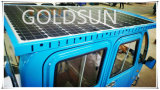 Triciclo elétrico solar da caixa da carga, motocicleta elétrica de três rodas