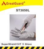 O branco de Supershield cortou a luva 5 (ST3050L)