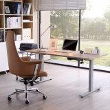 Table de bureau électrique en forme de noyer L en hauteur réglable