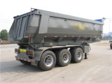 50tons acoplado de la carga útil 3-Axle semi con Hyva hidráulico
