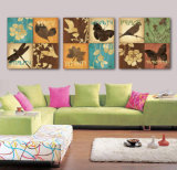 3 Stück-heißer Verkaufs-moderne Wand-Farbanstrich-Basisrecheneinheits-Farbanstrich-Raum-Dekor-Wand-Kunst-Abbildung angestrichen auf Segeltuch-Ausgangsdekoration Mc-208