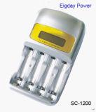 Cargador de baterías recargables rápido del LCD AA/AAA Ni-MH