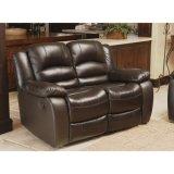 居間の椅子贅沢な横たわる上の革アーム椅子